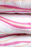 Striped colorful pillow Stock Image