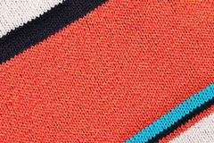 Striped colorful stockinet background. Striped colorful knitted fabric texture background Stock Photo