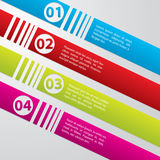 Striped commercial label set Stock Photography