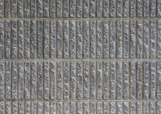 Striped Concrete Wall Background, Closeup Royalty Free Stock Images