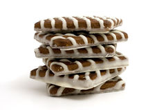 Striped cookies Royalty Free Stock Image