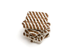 Striped cookies Stock Image