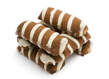 Striped cookies Royalty Free Stock Photography
