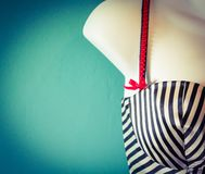 Striped corset Stock Photos