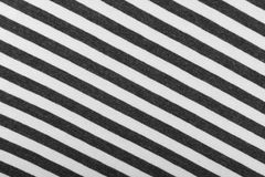 Striped Cotton Fabric Background. Diagonal Striped Cotton Fabric Background. Black and White Textile Pattern. Soft and Comfortable Natural Material Stock Image