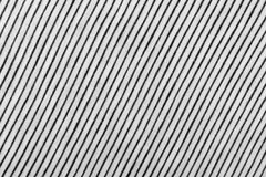 Striped Cotton Fabric Background. Diagonal Striped Cotton Fabric Background. Black and White Textile Pattern. Soft and Comfortable Natural Material Stock Photos