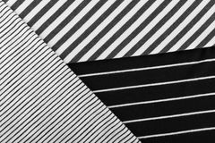 Striped Cotton Fabric Background. Diagonal Striped Cotton Fabric Background. Black and White Textile Pattern. Soft and Comfortable Natural Material Royalty Free Stock Photos
