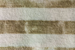 Striped cotton fabric macro Royalty Free Stock Photography