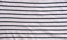 Striped cotton jersey fabric. Detail Stock Image