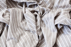 Striped cotton linen texture fabric Stock Photo