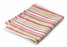 Striped cotton napkin Royalty Free Stock Photos