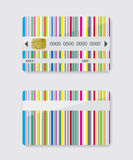 Striped credit card. Abstract illustration Royalty Free Stock Photography