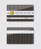 Striped credit card illustration Royalty Free Stock Images