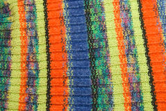 Striped crisp colorful woolen fabric. Stock Image