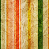 Striped crumpled  paper background Royalty Free Stock Photos