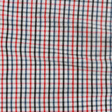 Striped crumpled tablecloth. Royalty Free Stock Photo