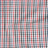 Striped crumpled tablecloth. Stock Photography