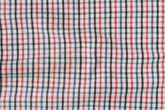 Striped crumpled tablecloth. Stock Photos