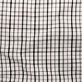 Striped crumpled tablecloth. Stock Photo