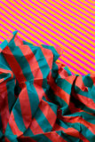 Striped and crushed paper Stock Photography