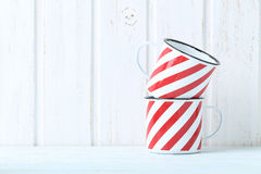 Striped cup Stock Photo