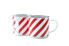 Striped cup Royalty Free Stock Photo