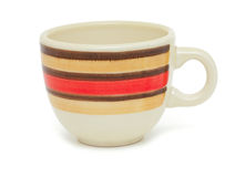 Striped cup Stock Image