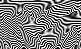 Striped curved abstract monochrome pattern royalty free illustration