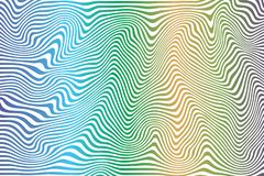 Striped curved abstract colored pattern stock illustration