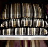 Striped cushions Royalty Free Stock Photo