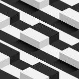 Striped 3D Square Hills Vector Seamless Pattern Royalty Free Stock Photo