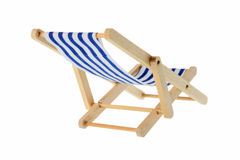 Striped deck chair Stock Images