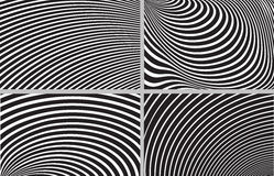 Striped design background set Royalty Free Stock Image