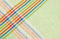 Striped dishtowel background Royalty Free Stock Image