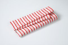 Striped dishtowel Royalty Free Stock Photography