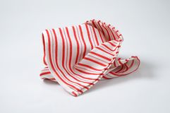Striped dishtowel Royalty Free Stock Images