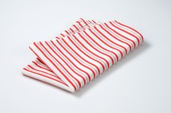 Striped dishtowel Royalty Free Stock Photos
