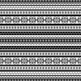 Striped doodle pattern Royalty Free Stock Photos