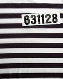 Striped dress for prisoners Royalty Free Stock Images