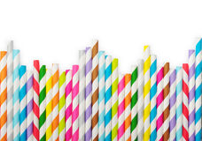 Striped drink straws Stock Photos