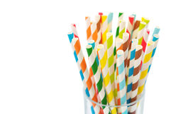 Striped  drink straws Royalty Free Stock Photos