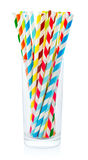 Striped drink straws Royalty Free Stock Images