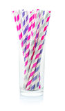 Striped drink straws Royalty Free Stock Photo