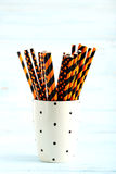 Striped drink straws Royalty Free Stock Image