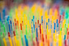 Striped drinking straws creating an interesting background Royalty Free Stock Photography