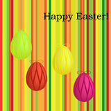 Striped easter card Stock Photos