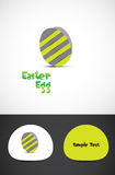 Striped easter egg Royalty Free Stock Image