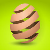 Striped easter egg Royalty Free Stock Photography