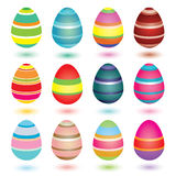Striped Easter Eggs Royalty Free Stock Photo