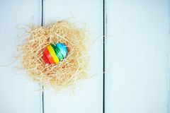 Striped egg Stock Photos